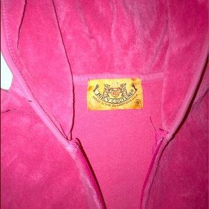 Hot Pink Zip Up Juicy Couture Hoodie